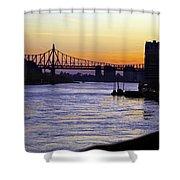 Queensboro Bridge At Night - Manhattan Shower Curtain
