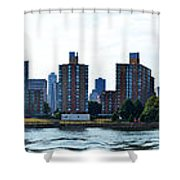 Queensboro Bridge / Roosevelt Island Panorama Shower Curtain