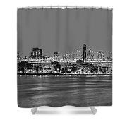 Queensboro Bridge 59th Street Nyc Bw Shower Curtain