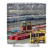 Queensgate Yard Cincinnati Ohio Shower Curtain