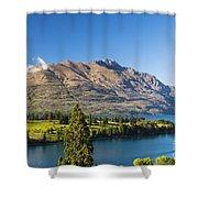 Queenstown Golf Club And Lake Wakatipu Shower Curtain