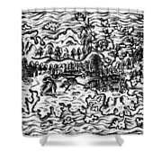 Queiros Voyages, 1613 Shower Curtain
