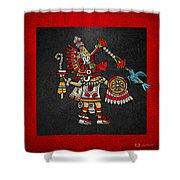 Quetzalcoatl In Human Warrior Form - Codex Magliabechiano Shower Curtain