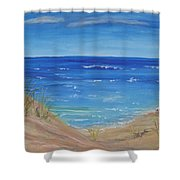 Quick Seascape 1 Shower Curtain