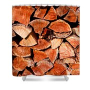 Quick Trick Wood Stack Shower Curtain