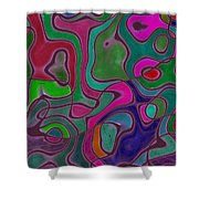 Quiet Abstraction Shower Curtain