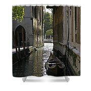 Quiet Canal In Venice Shower Curtain
