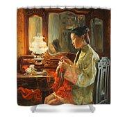 Quiet Evening Shower Curtain by Victoria Kharchenko