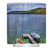 Quiet Jetty Shower Curtain by Evelina Kremsdorf