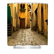 Quiet Lane In Tuscany 1 Shower Curtain