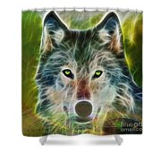 Quiet Majesty - Square Fractalized Version Shower Curtain