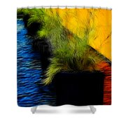 Quiet Meditation Shower Curtain
