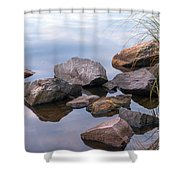 Quiet Morning. Ladoga Lake Shower Curtain