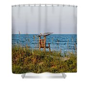 Quiet On The Beach Shower Curtain