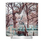 Quiet Place. Nature In Alien Skin Shower Curtain