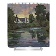 Quiet Reflections Duwamish River Shower Curtain
