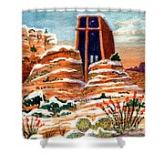 Quiet Snowfall  Sedona  Arizona Shower Curtain