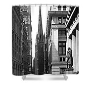 Quiet Sunday On Wall Street Shower Curtain