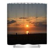 Quiet Sunrise Shower Curtain