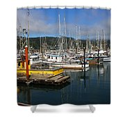 Quiet Time At The Harbor Shower Curtain