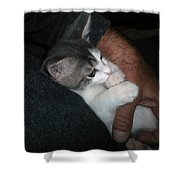 Quiet Time With Jackson Shower Curtain