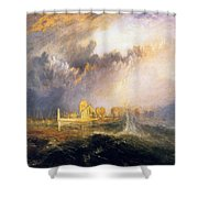 Quillebeuf - At The Mouth Of Seine Shower Curtain