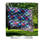 Quilt Top In The Breeze Shower Curtain