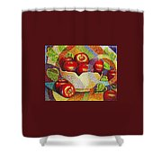 quilted Apples Shower Curtain