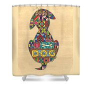 Quilted Dog Shower Curtain