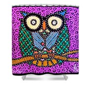 Quilted Dr Owl Shower Curtain