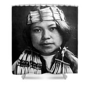 Quinault Indian Girl Circa 1913 Shower Curtain