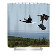 Quit Your Squawkin' Shower Curtain