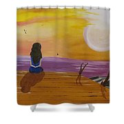 Quite Moments Shower Curtain