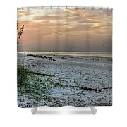 Quite Time On The Beach Shower Curtain