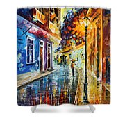 Quito Ecuador - Palette Knife Oil Painting On Canvas By Leonid Afremov Shower Curtain