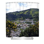 Quito From El Panecillo Shower Curtain