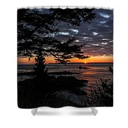 Quoddy Sunrise Shower Curtain by Marty Saccone