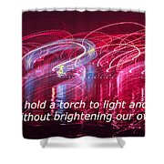 Quote By Ben Sweetland Shower Curtain