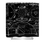 R. Buckminster Fuller Geodesic Dome Home Shower Curtain