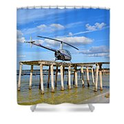 R22 On A Dock Shower Curtain