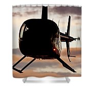 R44 At Sunset Shower Curtain