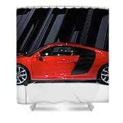 R8 In Red Shower Curtain