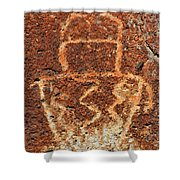 Shaman Petroglyph C Shower Curtain