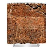 Big Horn Sheep Rock Art B Shower Curtain