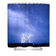 Rabbit Mountain Lightning Strikes Boulder County Co Shower Curtain