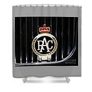 Royal Automobile Club Badge, Victoria Shower Curtain