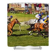Race 6 - Del Mar Horse Race Shower Curtain