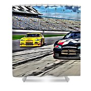 Race Car Track View Shower Curtain