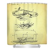 Race Car Track With Race Car Retaining Means Patent 1968 Shower Curtain