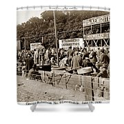 Race Cars Crown Point Indiana June 19 1909 Shower Curtain